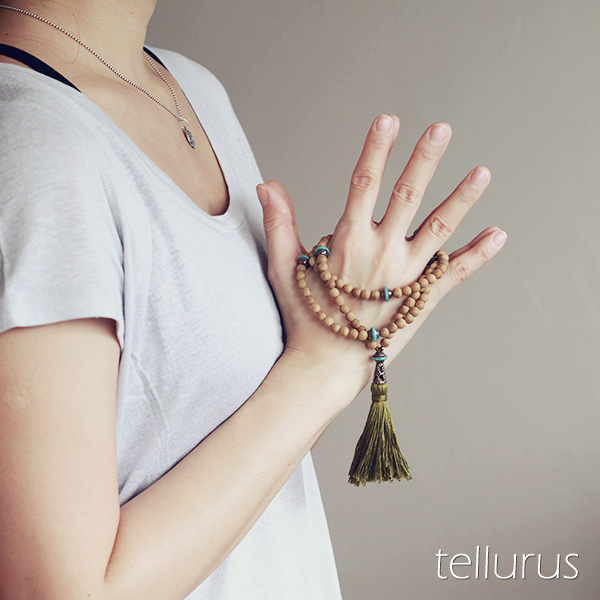 Agarwood mala necklace