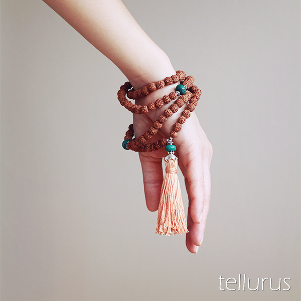 Rudraksha seed mala necklace